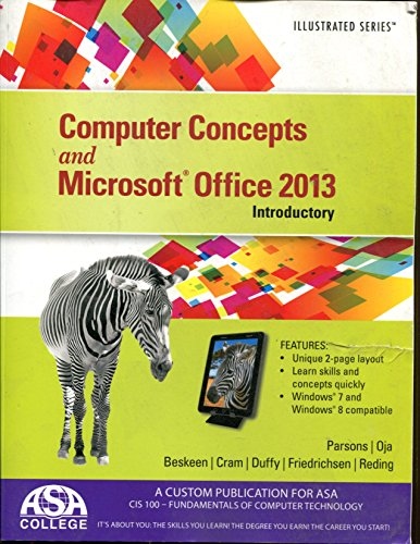 9781305283022: Computer Concepts and Microsoft Office 2013 Introductory ASA College