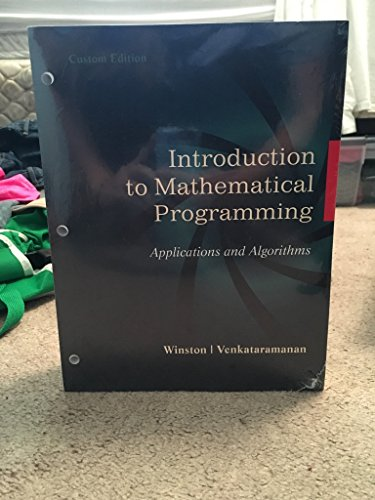 Chapter 1: Mathematical Programming