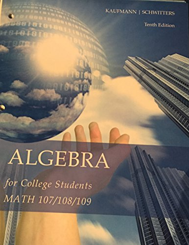 9781305283442: College Algebra for Students 10th ed