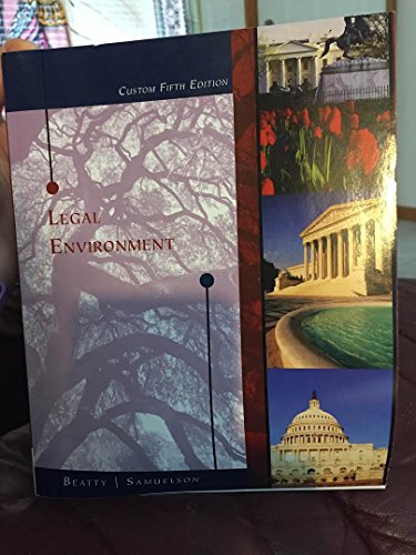 9781305284142: Legal Environment Custom Fifth Edition