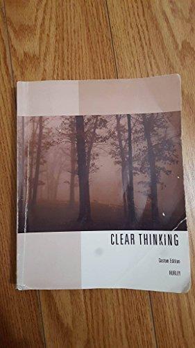9781305285330: Clear Thinking Custom Edition, Patrick Hurley