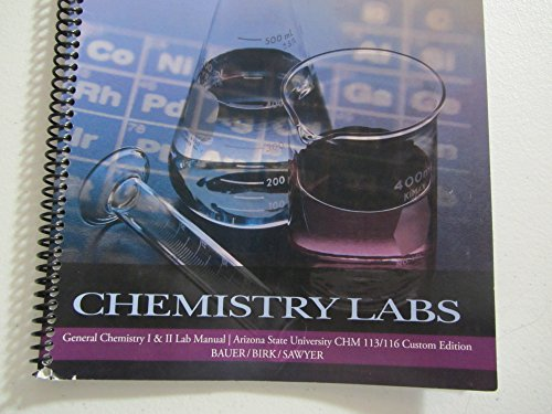 chm 116 lab Chemistry 116 laboratory manual, department of chemistry, purdue university [purdue chemistry department] on amazoncom free shipping on.