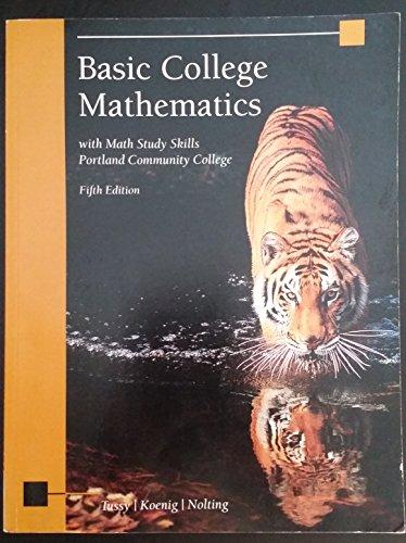 9781305289970: Basic College Math PCC Custom