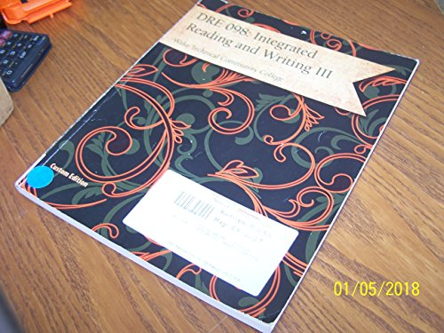 9781305292826: DRE 098: Integrated Readings and Writing III (Wake Technical Community College)