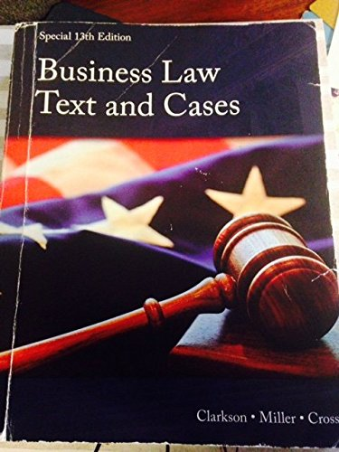 9781305294882: Business Law Text and Cases