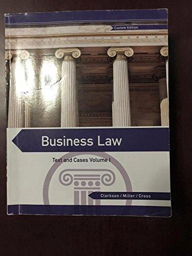 9781305298149: Business Law I Custom Edition for Brooklyn College