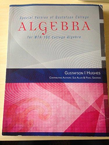 9781305300873: Algebra for MTH 103 College Algebra