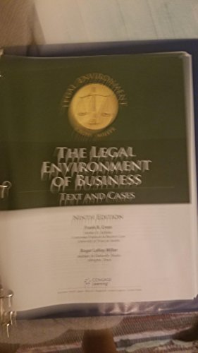 9781305301924: The Legal Environment of Business Select text and cases-revised 9th Edition