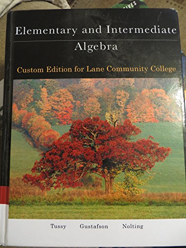 9781305310032: Elementary and Intermediate Algebra Custom Edition for Lane Community College