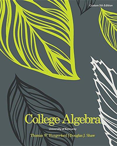 9781305315471: College Algebra University of Kentucky Custom 5th Edition
