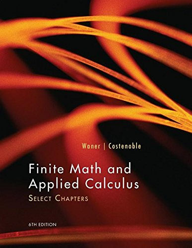 9781305316751: Finite Math and Applied Calculus: Select Chapters