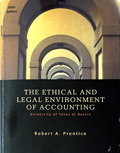 9781305319400: The Ethical and Legal Environment of Accounting