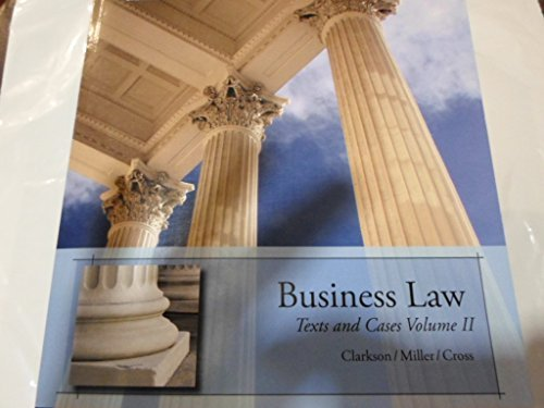 9781305319516: Business law: Texts and Cases Custom edition used at Brooklyn College and elsewhere