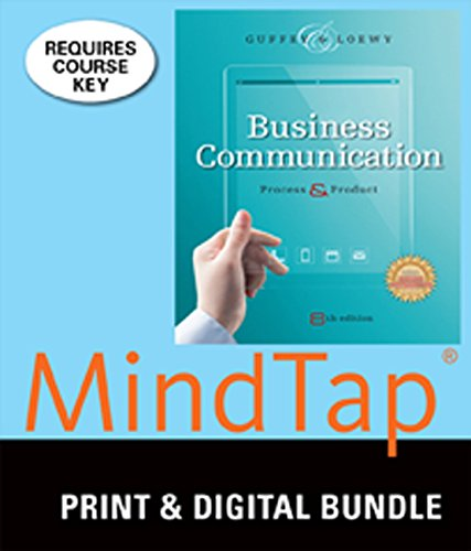 9781305360945: Bundle: Business Communication: Process and Product (with Student Premium Website Printed Access Card), 8th + MindTap Business Communication, 1 term (6 months) Printed Access Card