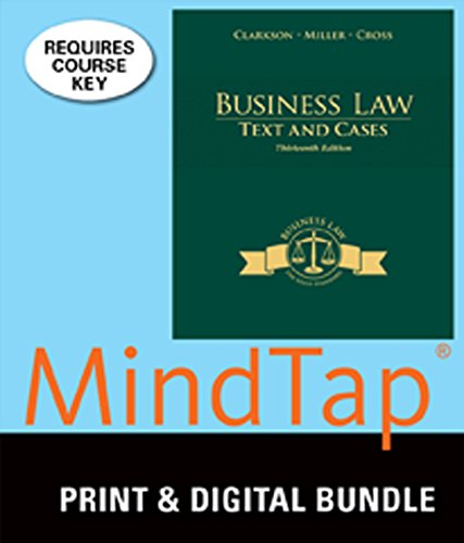9781305361492: Bundle: Business Law: Text and Cases, 13th + MindTap Business Law, 1 term (6 months) Printed Access Card