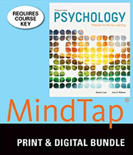 9781305361614: Bundle: Psychology: Modules for Active Learning, 13th + MindTap Psychology, 1 term (6 months) Printed Access Card
