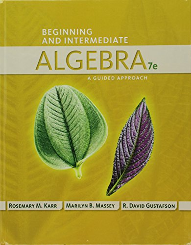 9781305367067: Bundle: Beginning and Intermediate Algebra: A Guided Approach, 7th + WebAssign Printed Access Card for Karr/Massey/Gustafson's Beginning and ... A Guided Approach, 7th Edition, Single-Term