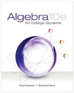 9781305367104: Bundle: Algebra for College Students, 10th + WebAssign Printed Access Card for Kaufmann/Schwitters' Algebra for College Students, Single-Term