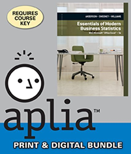 9781305367609: Bundle: Modern Business Statistics with Microsoft Excel, 5th + Aplia, 2 terms Printed Access Card