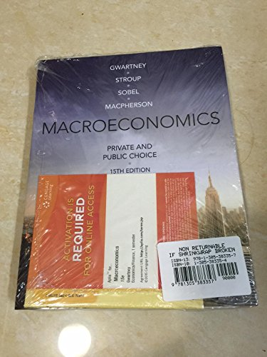 9781305383357: Macroeconomics: Private and Public Choice with Aplia Printed Access Card , 15e