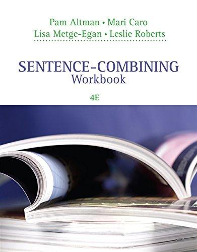 9781305391833: Sentence-Combining Workbook
