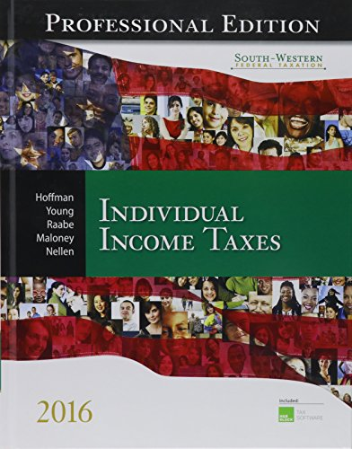 9781305393349: South-Western Federal Taxation 2016: Individual Income Taxes, Professional Edition (with H&r Block CD-ROM)