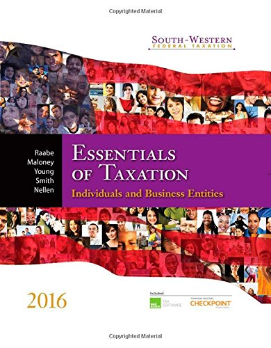 9781305395305: Essentials of Taxation 2016: Individuals and Business Entities (South Western Federal Taxation)