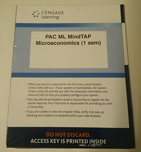 9781305398139: LMS Integrated for MindTap Economics, 1 term (6 months) Printed Access Card for Boyes/Melvin's Microeconomics, 10th