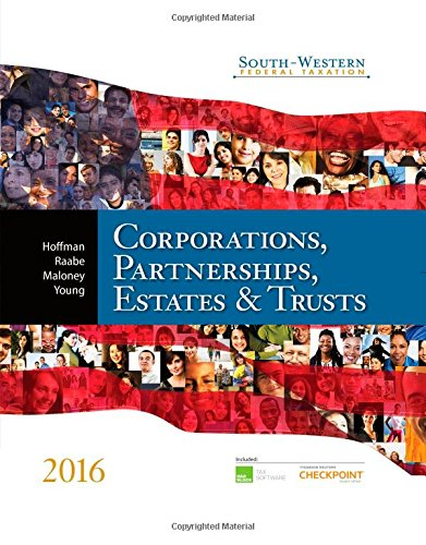 9781305399884: South-Western Federal Taxation 2016: Corporations, Partnerships, Estates & Trusts (Corporations, Partnerships, Estates and Trusts)