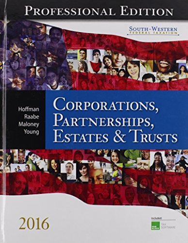 9781305399921: South-Western Federal Taxation 2016: Corporations, Partnerships, Estates and Trusts, Professional Edition (with H&r Block CD-ROM)
