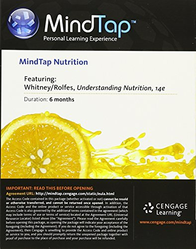 MindTap Nutrition, 1 term Printed Access Card for Whitney/Rolfes Understanding Nutrition 9781305406339 MindTap Nutrition for Whitney/Rolfes' Understanding Nutrition, 14th Edition provides you with the tools you need to better manage your l