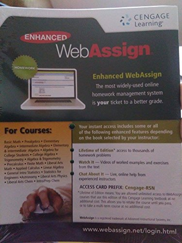 9781305408043: Enhanced WebAssign for Math and Science