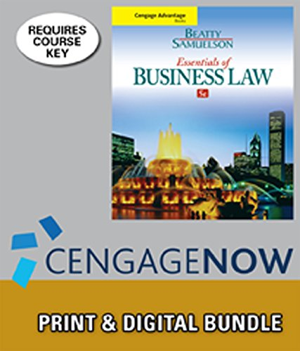 9781305421349: Bundle: Cengage Advantage Books: Essentials of Business Law, 5th + CengageNOW™, 1 term (6 months) Access Code