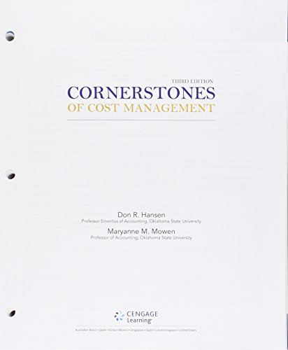 9781305421806: Bundle: Cornerstones of Cost Management, 3rd + LMS Integrated for CengageNOW Printed Access Card