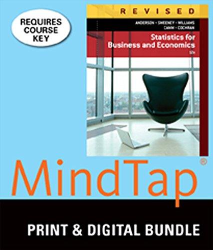 9781305424784: Bundle: Statistics for Business & Economics, Revised, Loose-leaf Version, 12th + MindTap Business Statistics, 2 terms (12 months) Printed Access Card