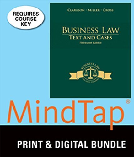 9781305428218: Bundle: Business Law: Text and Cases, 13th + LMS Integrated for MindTap Business Law, 1 term (6 months) Printed Access Card