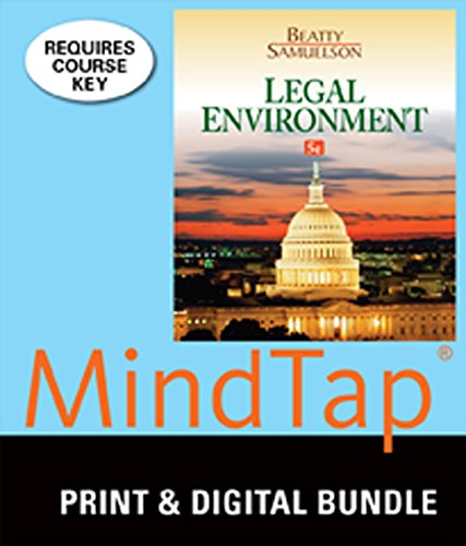 9781305436060: Bundle: Legal Environment, 5th + Student Guide to Sustainabillity, Law, and Ethics + MindTap Business Law, 1 term (6 months) Printed Access Card