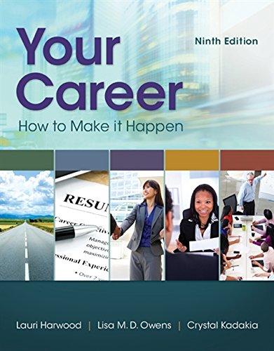 Your Career: How to Make it Happen: Crystal Kadakia; Laurie Harwood; Lisa Owens