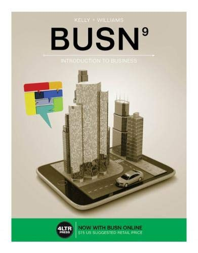 9781305497320: BUSN (with BUSN Online, 1 term (6 months) Printed Access Card) (New, Engaging Titles from 4LTR Press)