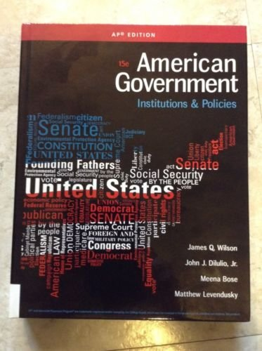 9781305500068: American Government: Institutions and Policies 15th Ed AP Edition