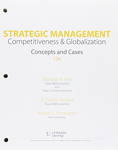 9781305502161: Strategic Management: Concepts and Cases: Competitiveness and Globalization