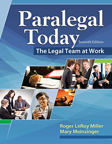 9781305506084: Paralegal Today: The Legal Team at Work