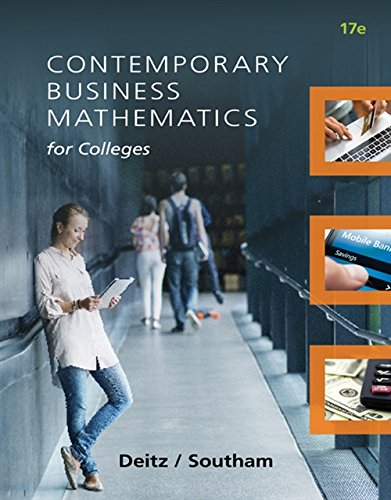9781305506688: Contemporary Business Mathematics for Colleges