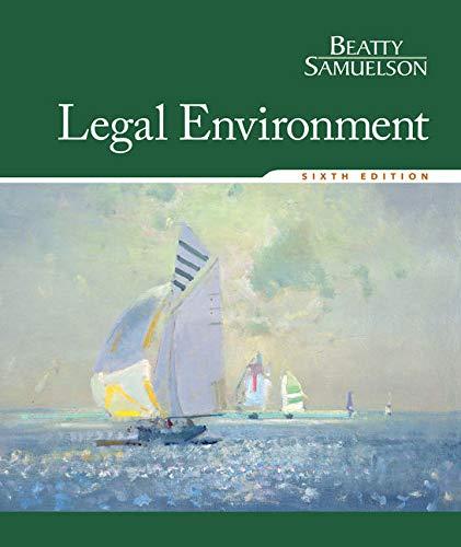 9781305507487: Legal Environment