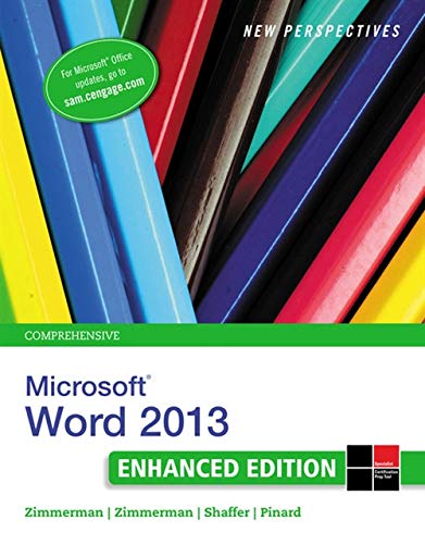 9781305507852: New Perspectives on Microsoft Word 2013, Comprehensive Enhanced Edition (Microsoft Office 2013 Enhanced Editions)