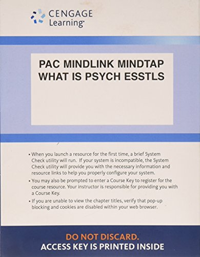 9781305508989: LMS Integrated for MindTap Psychology, 1 term (6 months) Printed Access Card for Pastorino/Doyle-Portillo's What is Psychology?: Foundations, Applications, and Integration, 3rd