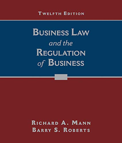9781305509559: Business Law and the Regulation of Business