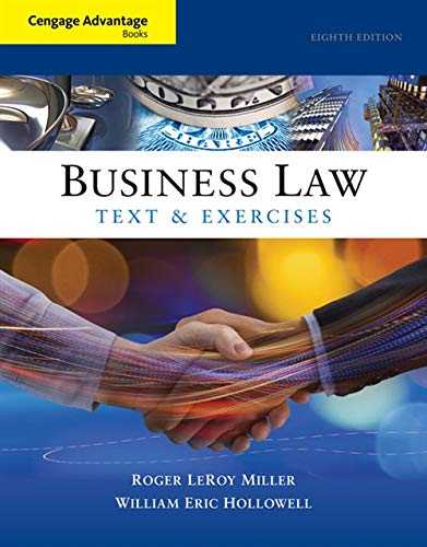 9781305509603: Cengage Advantage Books: Business Law: Text and Exercises