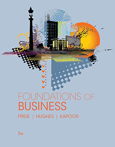 9781305511064: Foundations of Business (Standalone Book)