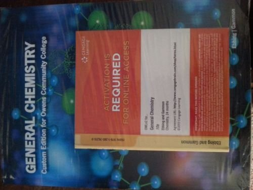 9781305514683: General Chemistry Custom Edition for Owens Community College w/ Owl Access Code